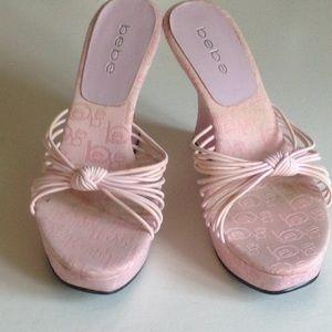 Pink bebe sandels sz 6